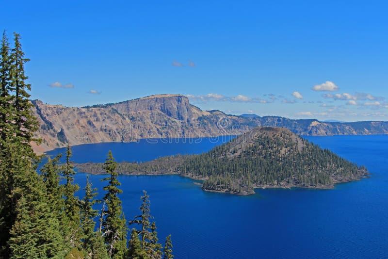 Paysage en parc national de lac crater, Etats-Unis images stock