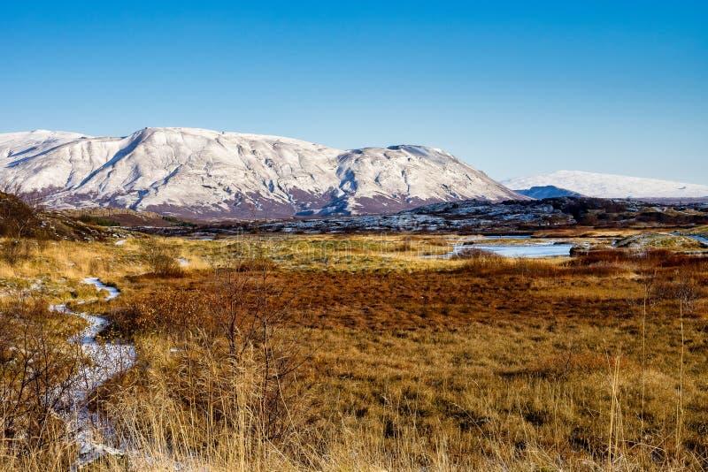 Paysage en parc national de Thingvellir en Islande images stock