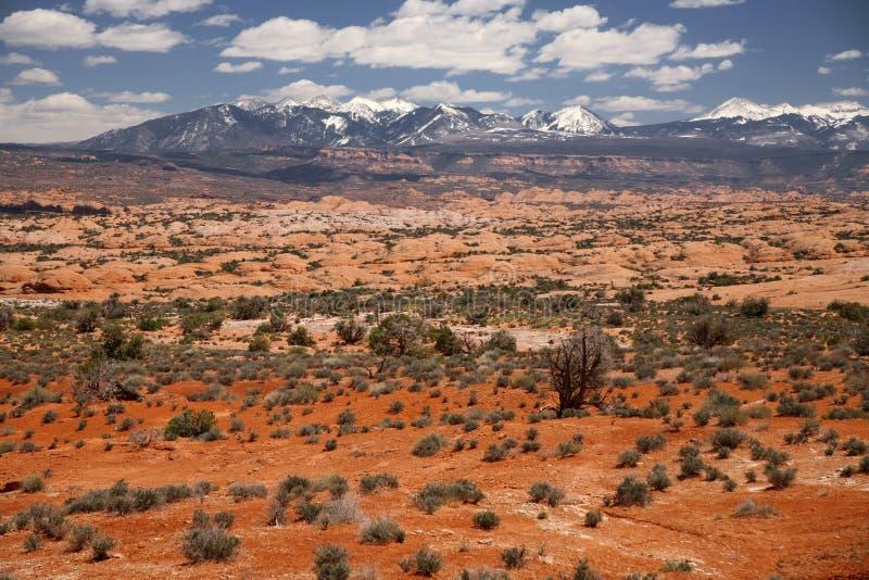 Paysage en parc national de voûtes en Utah, Etats-Unis photographie stock