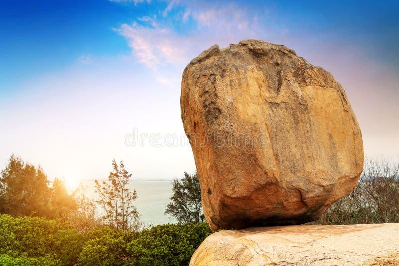 Paysage en pierre La Chine Zhangzhou images stock