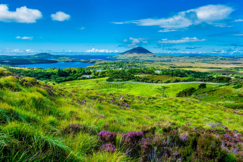 Paysage et côte Connemara en Irlande photos libres de droits