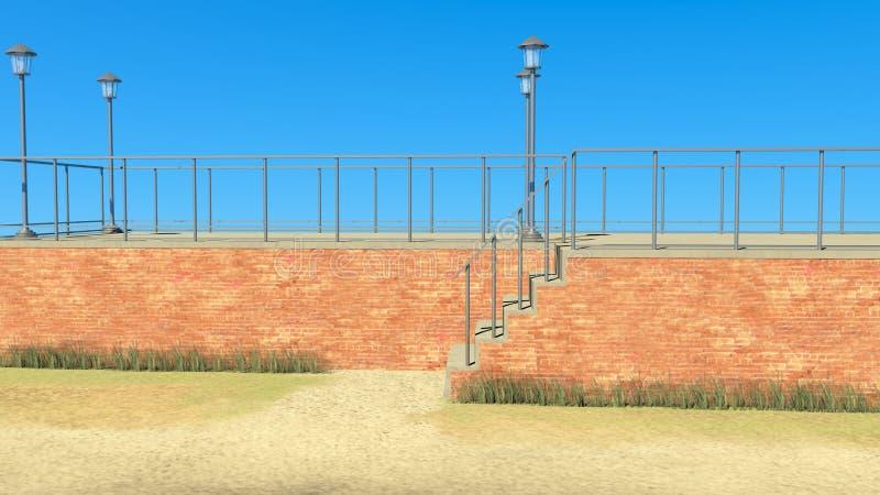 Paysage et construction image libre de droits