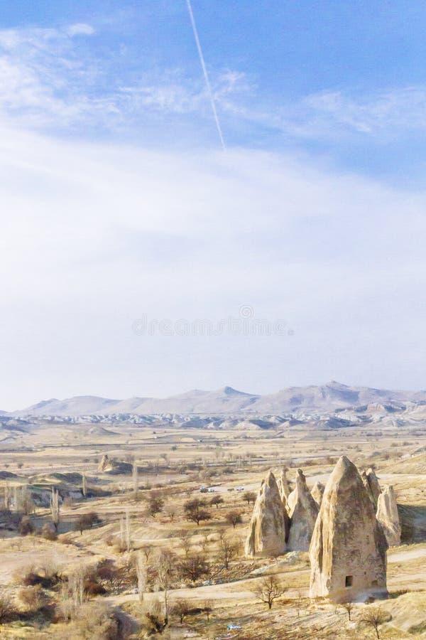 Paysage et formation de roche près de Göreme dans Cappadocia, Turquie image libre de droits