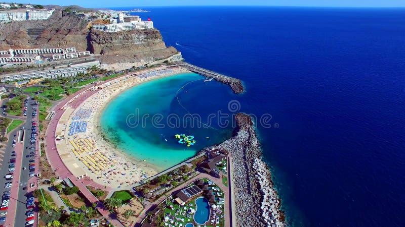 Paysage et vue de beau Gran Canaria aux Îles Canaries, Espagne photo libre de droits