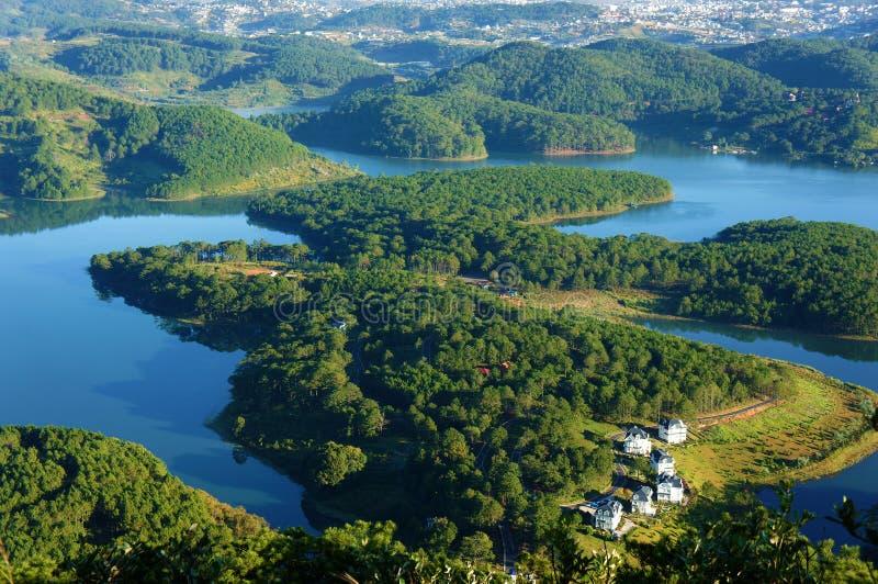 Paysage fantastique, voyage de lac d'eco, Vietnam image stock
