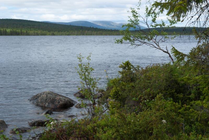 Paysage finlandais de la Laponie photos stock