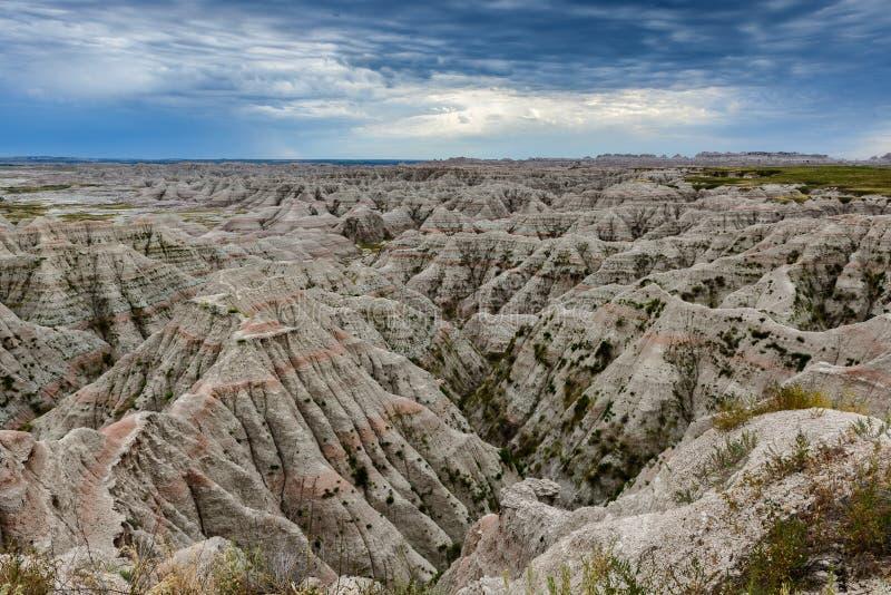 Paysage géologique de bad-lands photographie stock