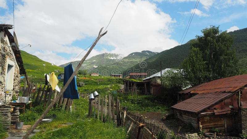 Paysage géorgien images stock