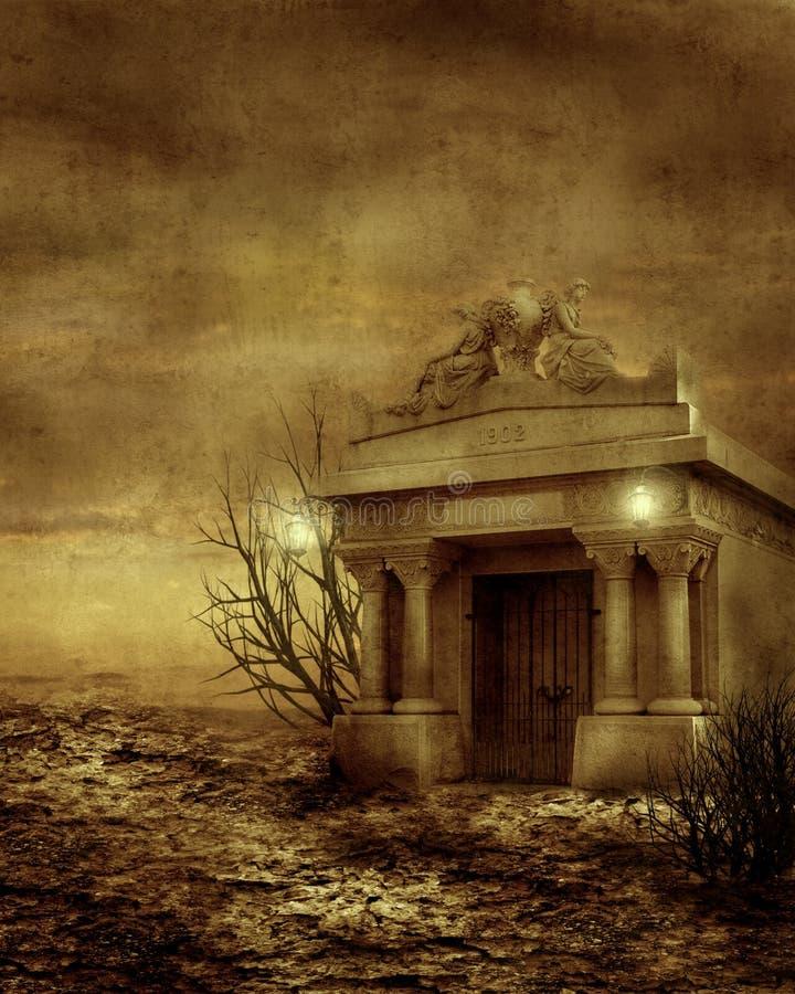 Paysage gothique 05 illustration de vecteur