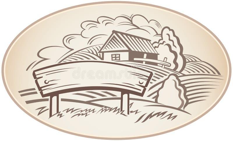 Paysage graphique illustration de vecteur