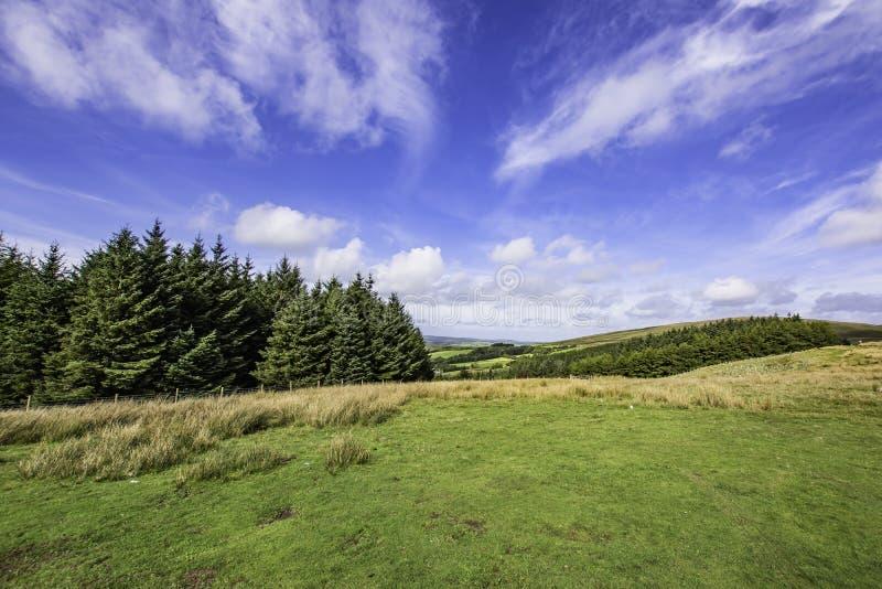 Paysage idyllique de secteur de lac, Cumbria, R-U photographie stock