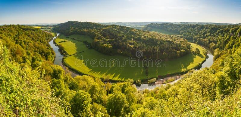Paysage idyllique, montage en étoile de rivière images stock