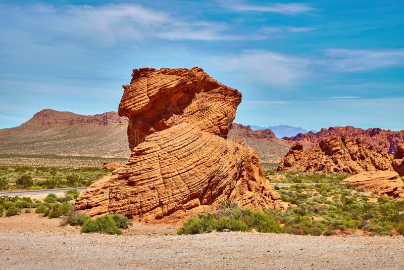 Paysage incroyablement beau au Nevada du sud, vallée du parc d'état du feu, Etats-Unis images libres de droits
