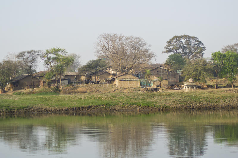 Paysage indien de village images libres de droits