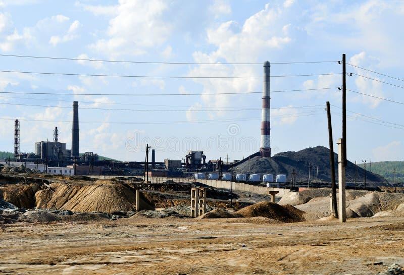 Paysage industriel - fabrication de cuivre-fonte photos stock