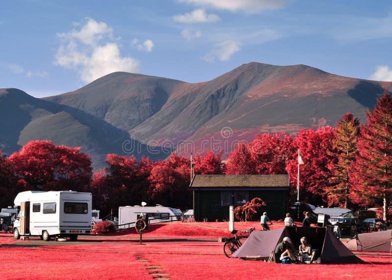 Paysage infrarouge de secteur de lac photo stock