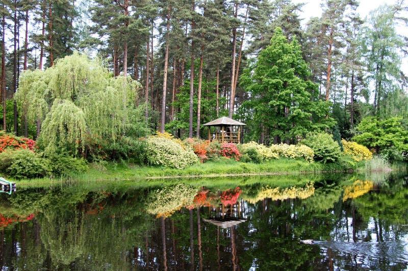 Paysage japonais en parc letton image stock