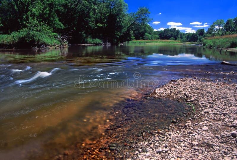 Paysage l'Illinois de rivière de Kishwaukee photos stock