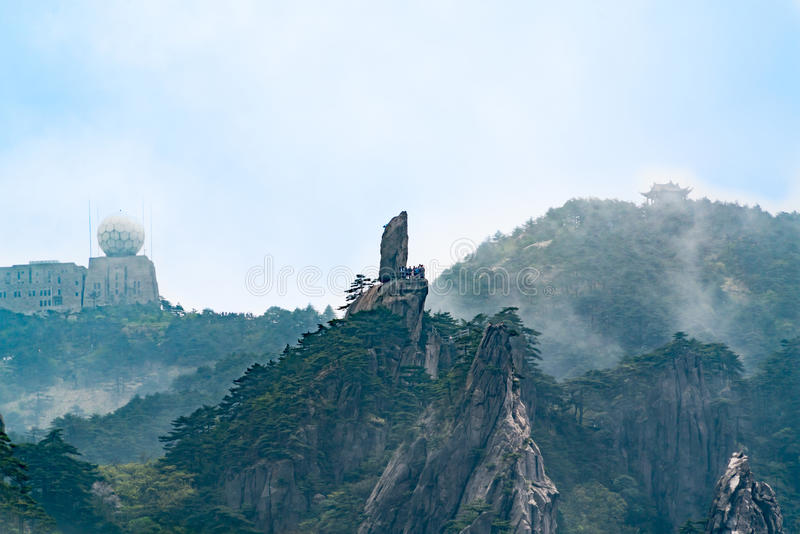 Paysage - la crête de la montagne de Huangshan, Anhui, Chine image libre de droits
