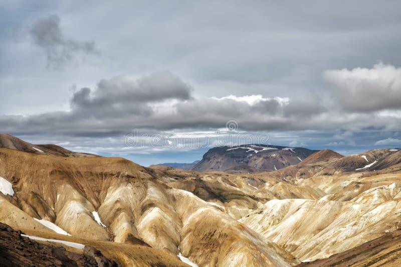 Paysage landmannalaugar de région de l'Islande photos stock