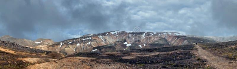Paysage landmannalaugar de région de l'Islande photographie stock