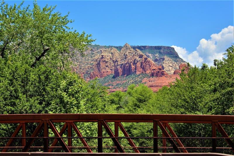 Paysage le comt? de Maricopa, Sedona, Arizona, Etats-Unis de paysage photographie stock
