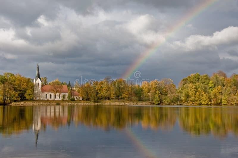 Paysage letton photographie stock