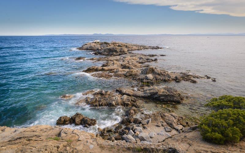 Paysage m?diterran?en dans les roses, Costa Brava Spain image libre de droits