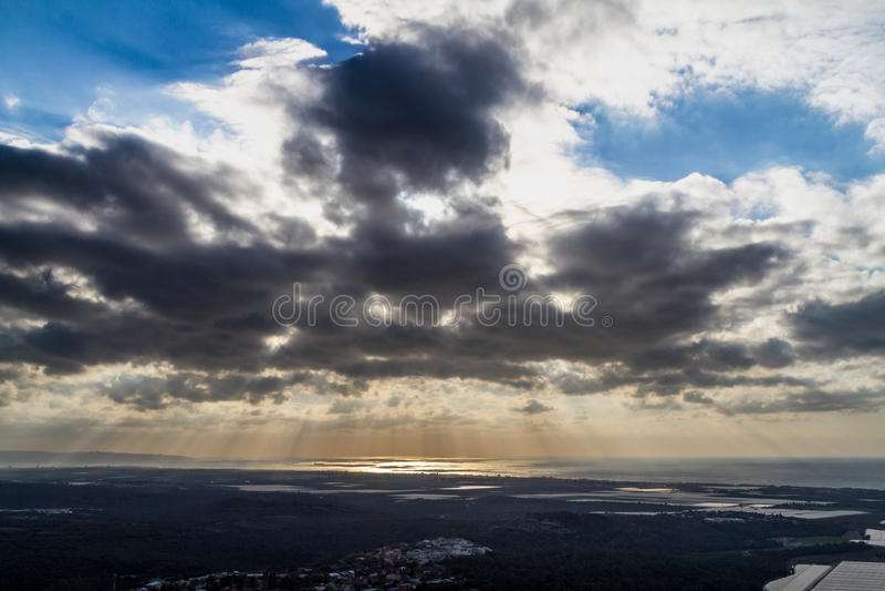Paysage méditerranéen, Galilée supérieure, Israël photographie stock libre de droits