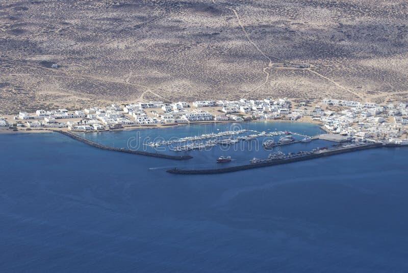 Paysage magnifique du port de La Graciosa photos stock