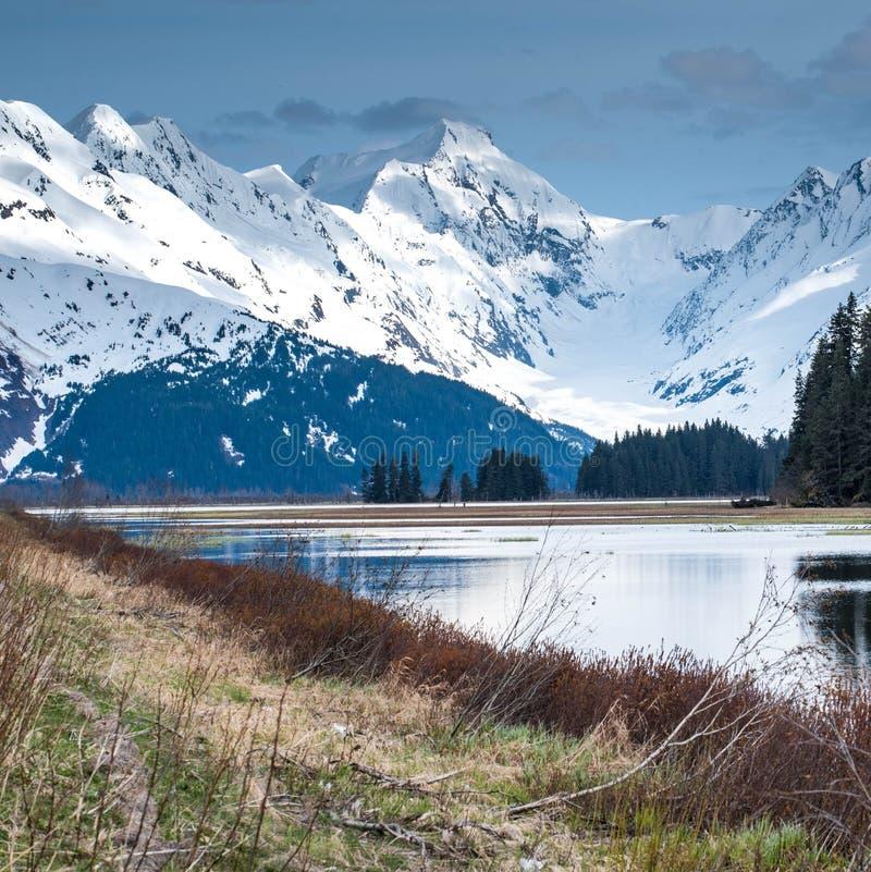 Paysage majestueux de l'Alaska pendant le printemps image stock