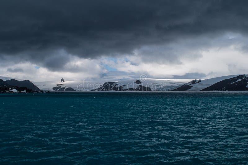 Paysage marin antarctique image libre de droits
