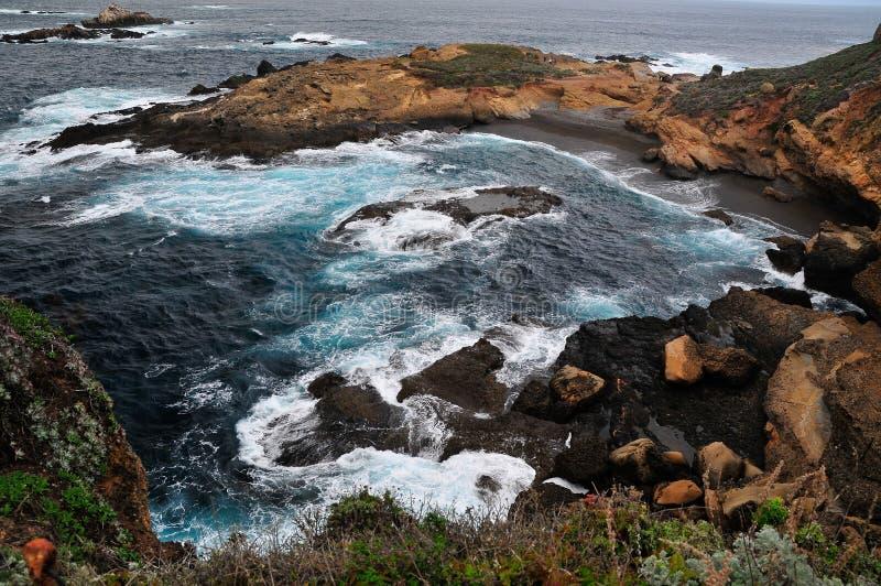 Paysage marin au point Lobos la Californie images stock