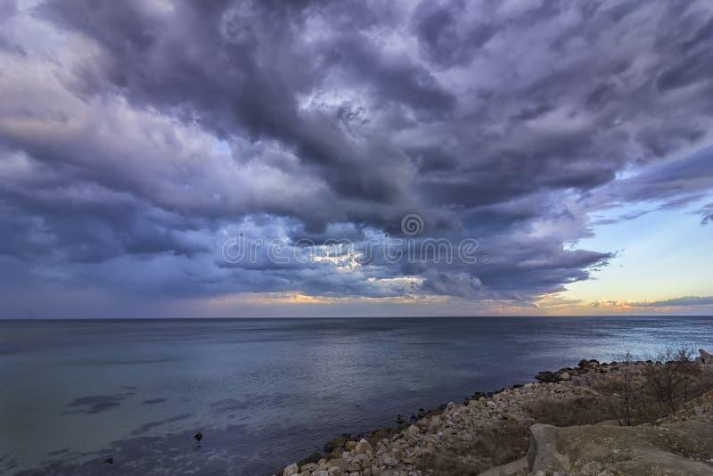 Paysage marin calme passionnant photographie stock libre de droits