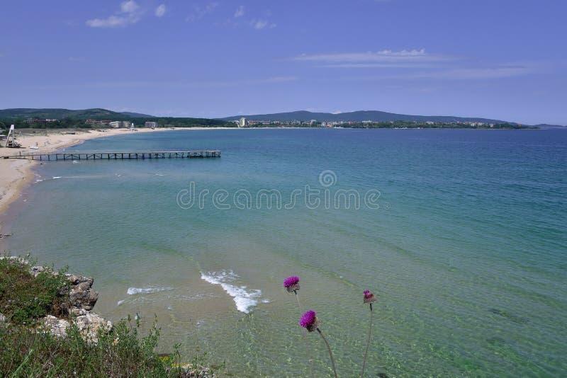 Paysage marin dans Primorsko sur la Mer Noire images stock