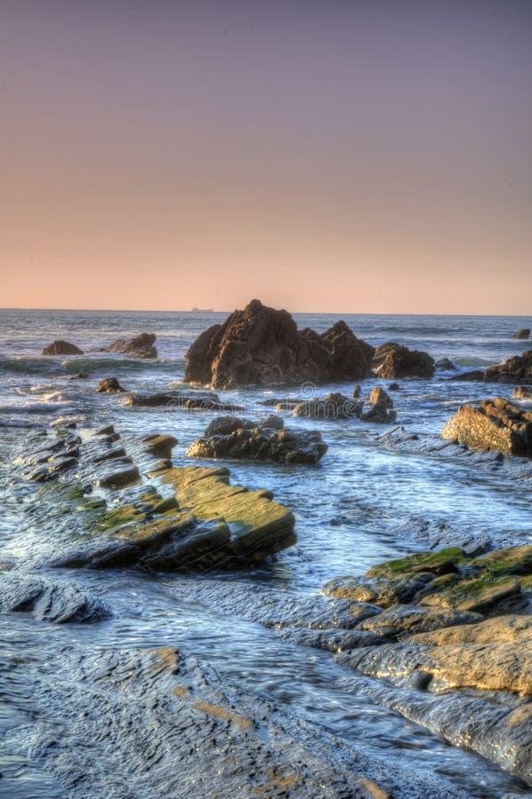 Paysage marin de côte image stock