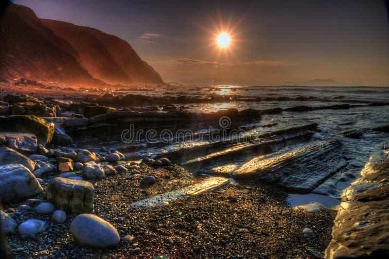 Paysage marin de côte photographie stock