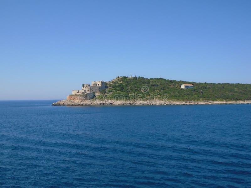 Paysage marin de Kotor Monténégro image stock