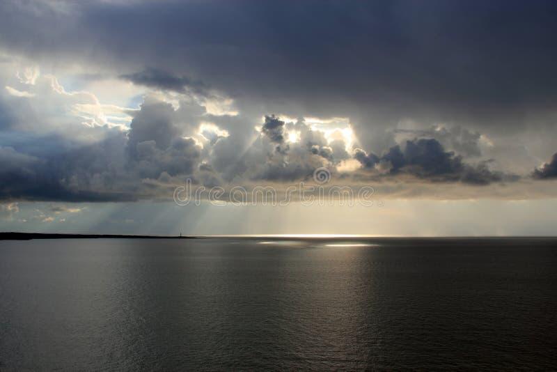 Paysage marin de l'hiver image libre de droits