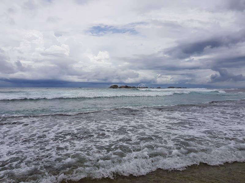Paysage marin de l'Océan Indien avant la tempête image libre de droits