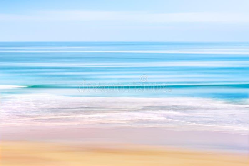 Paysage marin de longue vague images stock