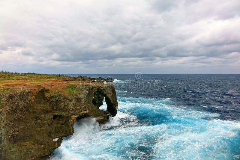Paysage marin de manzamo de cap photos libres de droits