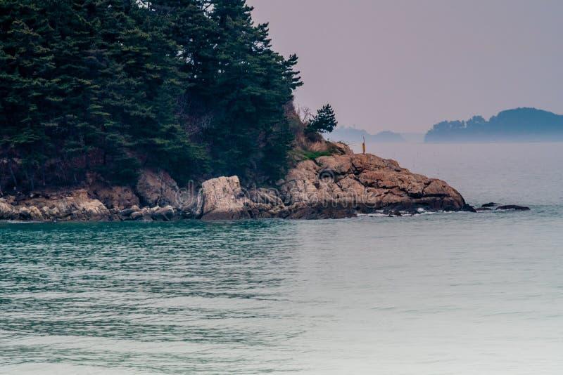 Paysage marin de parcelle rocheuse photos stock