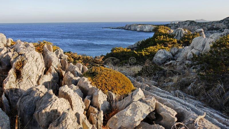Paysage marin de roche photographie stock libre de droits