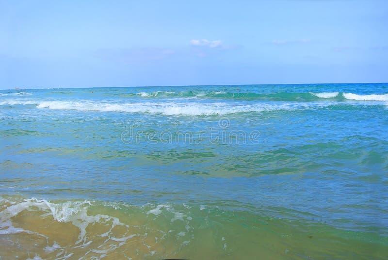 Paysage marin La mer Méditerranée La plage de Tel Aviv l'israel photographie stock libre de droits