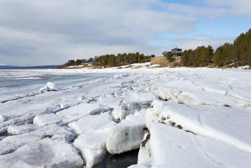 Paysage marin, mer blanche, Russie photos libres de droits