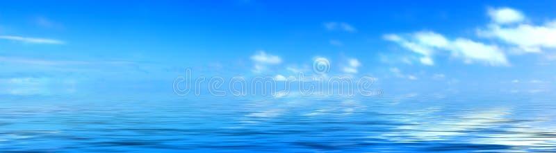 Paysage marin - panorama tropical images stock
