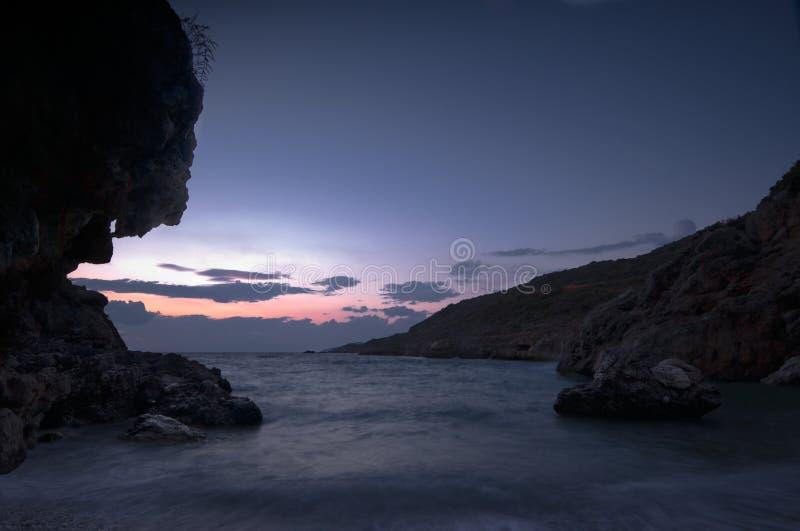 Paysage marin sombre photo stock