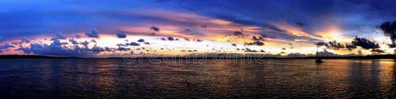 Paysage marin superbe de lever de soleil de panorama l'australie photos libres de droits
