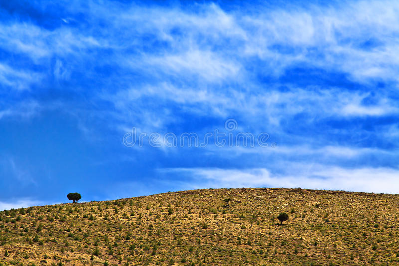 Paysage morrocan sauvage photo stock